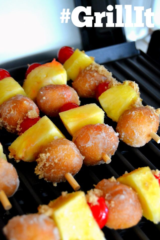 Center Stage: Searing Grill Pineapply Upside Down Donut Skewers with @ ...