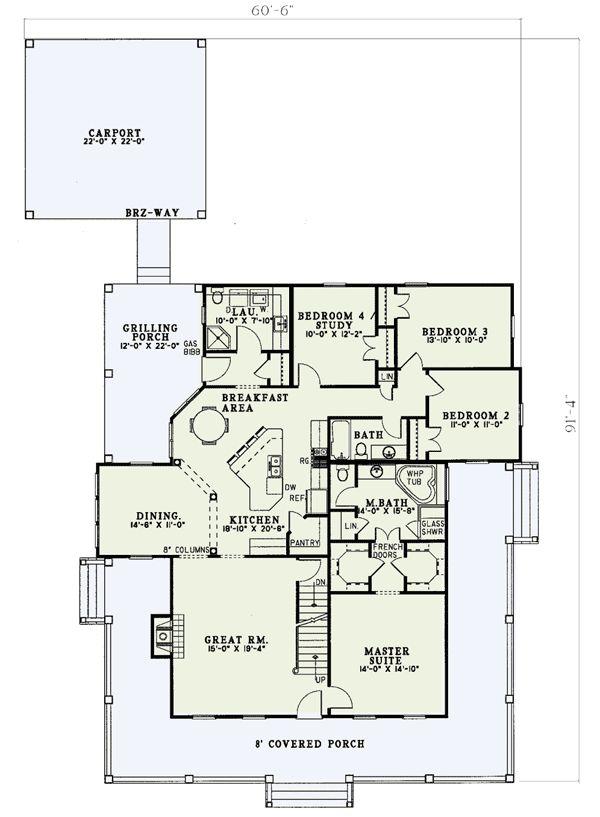 Floor 1 Wrap Around Porch W5921nd Architectural Designs