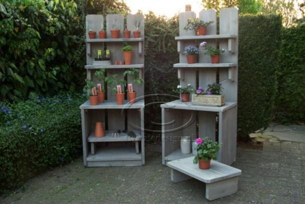 Steigerhout kasten voor buiten handige tips voor de tuin en garden - Tuindecoratie buiten ...