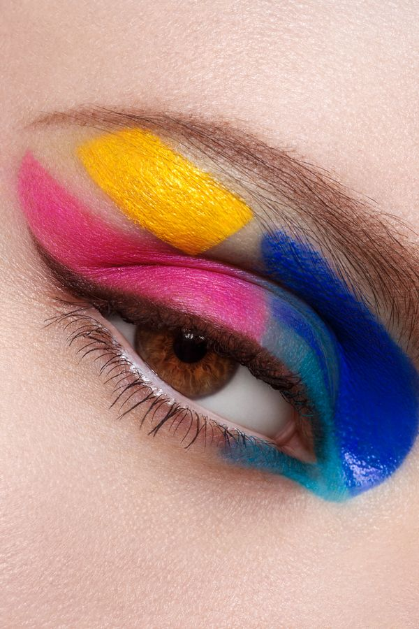 FANTASY. Blue Pink and Yellow for the eyes!