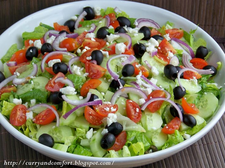Curry and Comfort: Greek Salad with Creamy Dressing