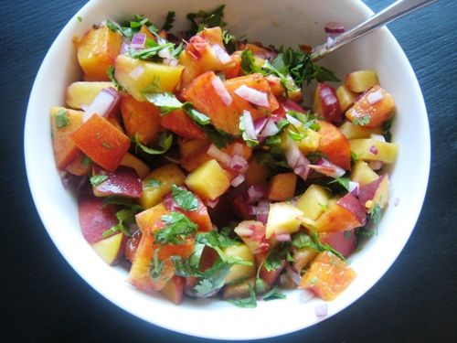 Take advantage of summertime peaches. Peach salsa and more recipes.