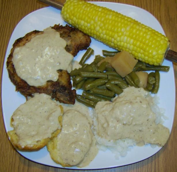 Southern Fried Pork Chops With Creamy Pan Gravy. This is pure comfort ...