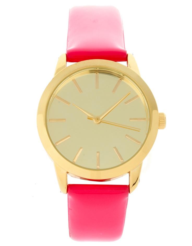 Patent Pink J.Crew Watch