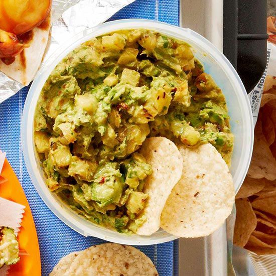 Add a little sweetness to your guac -- Smoky Pineapple Guacamole