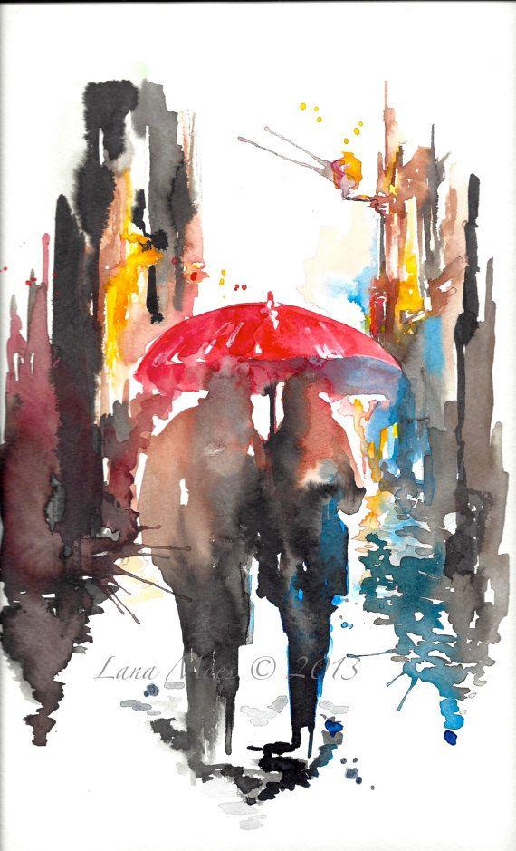 original watercolor painting contemporary mo