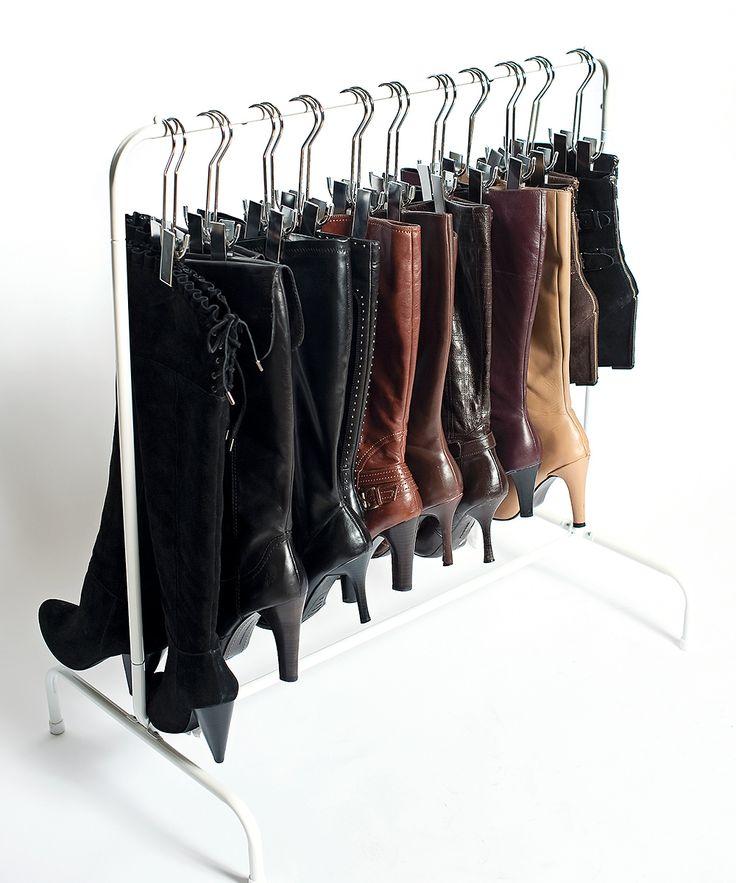white boot rack organize