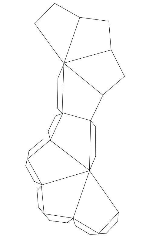 Polyhedra Garland Templates — Crafthubs