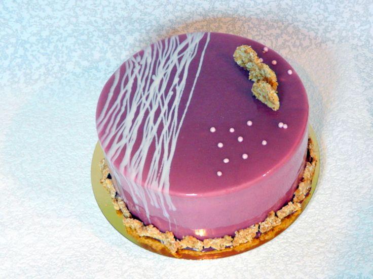 Как украсить торт с зеркальной глазурью