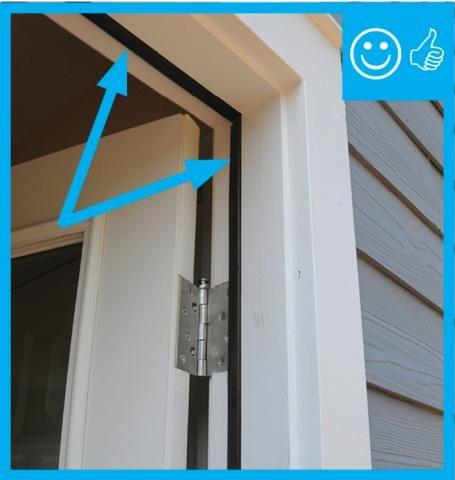 Flip up weather strip for door