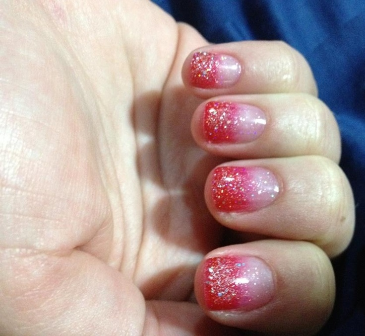 Red And Black Ombre Nails Red Black Ombre Nails