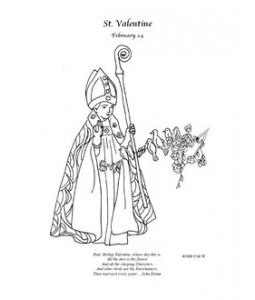 Pinterest discover and save creative ideas for Saint valentine coloring page