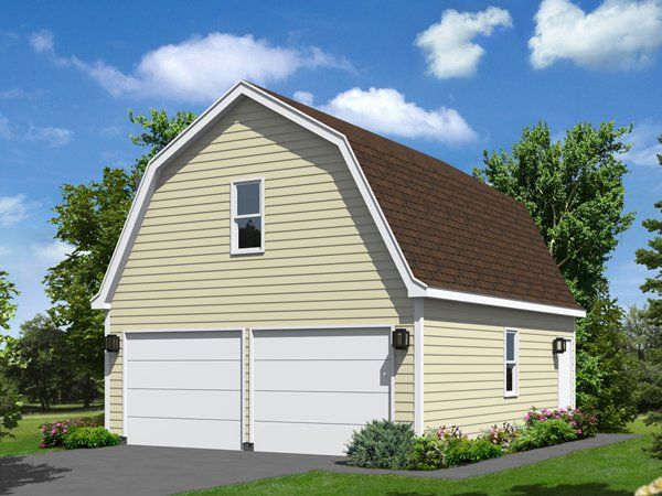 Two Car Garage With Loft Garage Plans Garage Shop