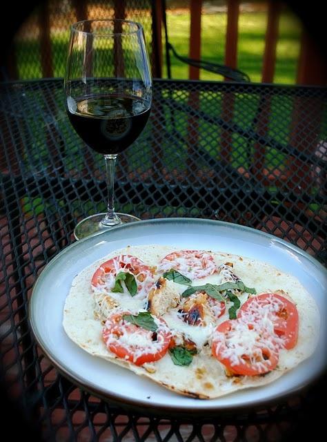 Grilled Chicken Margherita Tostada Pizza | Recipes | Pinterest