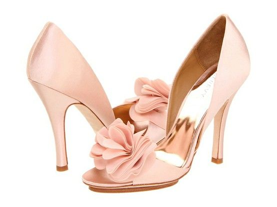 pink wedding shoes blush from light to