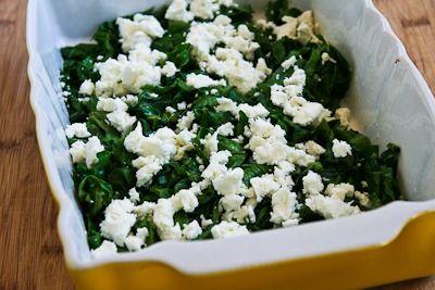 Recipe for Kale and Feta Breakfast Casserole [from KalynsKitchen.com]