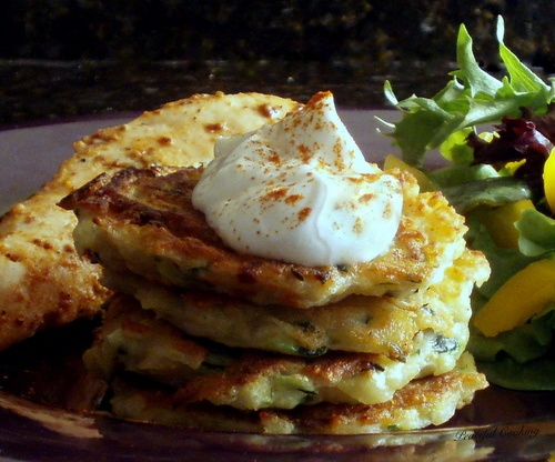 Zucchini and Potato Pancakes with just the right amount of sauteed ...