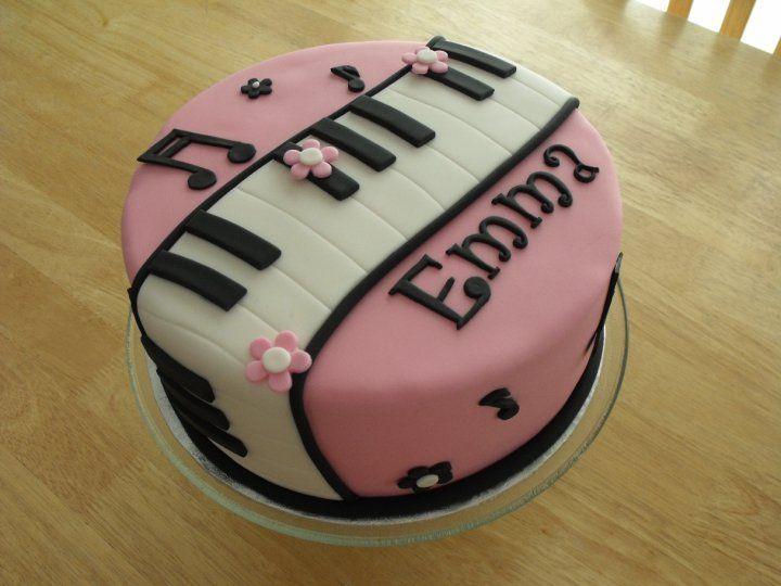 Cake Decorating Ideas Piano : Emma s piano cake Birthday Cake Ideas Pinterest