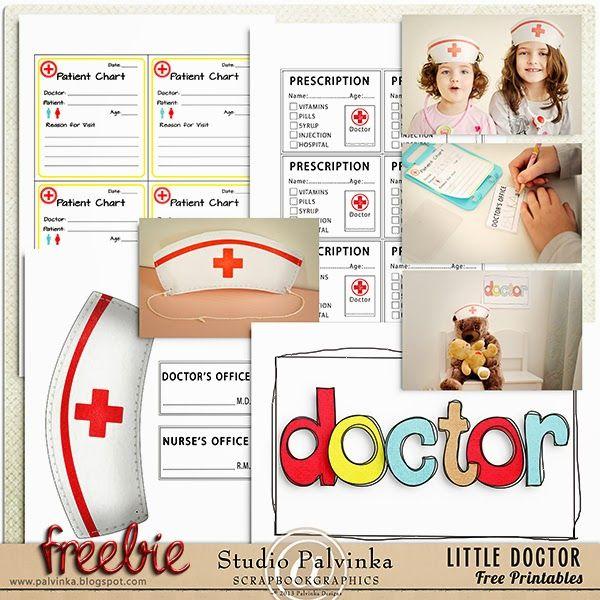 Imprimibles gratis para jugar a hospital en casa