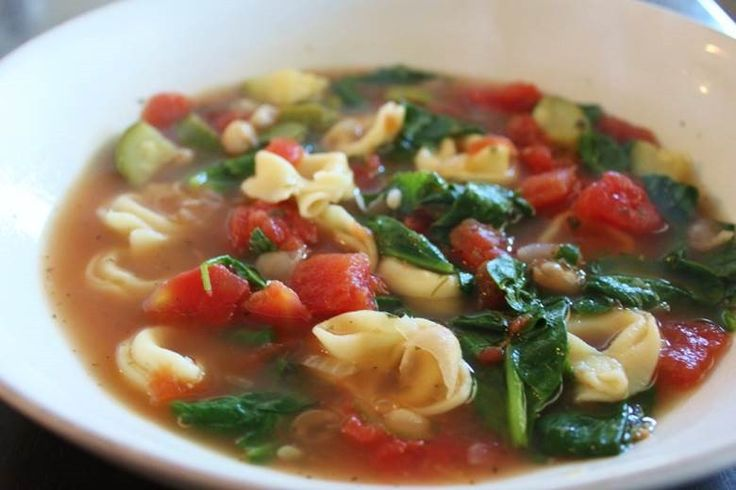 Quick and Easy Tortellini Vegetable Soup | Soup! | Pinterest