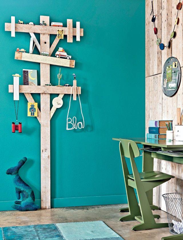 mommo design: TREES IN KIDS ROOM