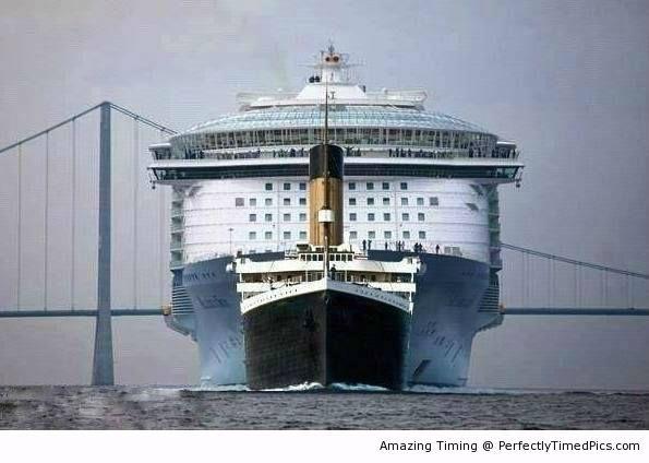 Titanic Vs Modern Cruise Ship  Amazing Things That Make
