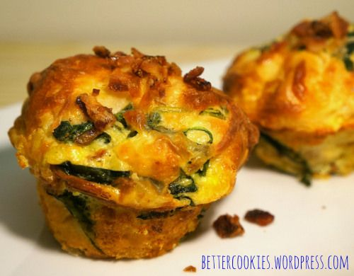 and bacon muffin cups bacon and swiss quiche bacon quiche biscuit cups ...