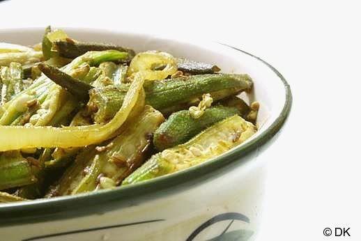 Bhindi Do Pyaza - Okra Stir Fried With Onion Recipe — Dishmaps