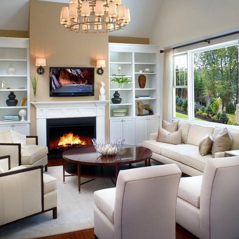 built in cabinets around fireplace for the home pinterest