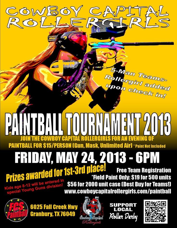 Paintball tournament 5 24 13 cowboycapitalrollergirls