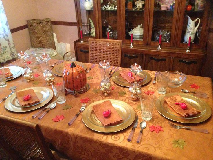 Thanksgiving Dinner Table Setting Dinner Table Settings