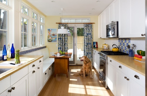 Sunny yellow white and blue kitchen home updating ideas - Yellow and blue kitchen ideas ...