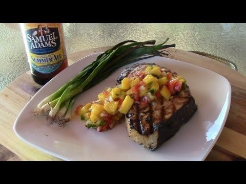 Grilled Swordfish with Mango Salsa | Bouffe! | Pinterest