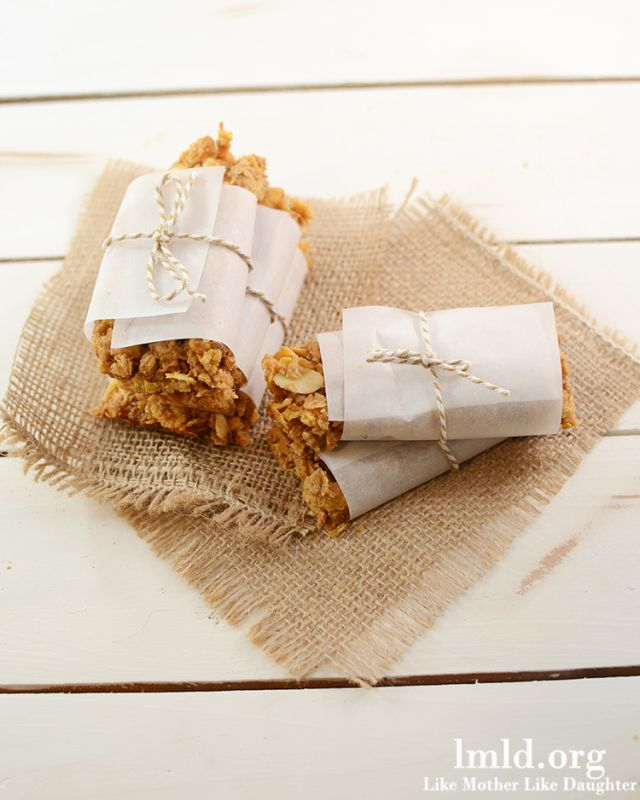 Peanut Butter and Honey Granola Bars made with honey bunches of oats ...