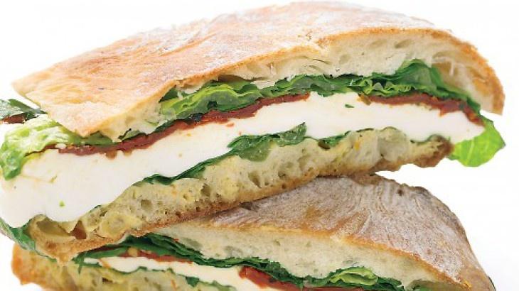 Pressed Mozzarella and Tomato Sandwich | my pinups | Pinterest