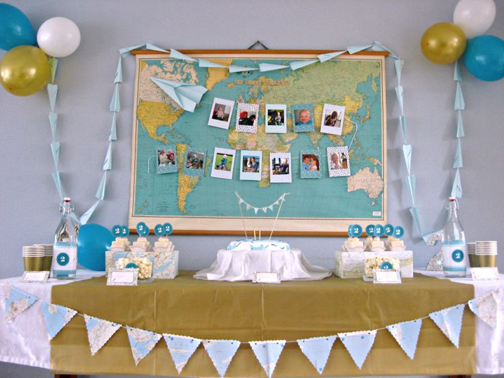 """""""Time Flies"""" Airplane Theme Party - #partyidea"""