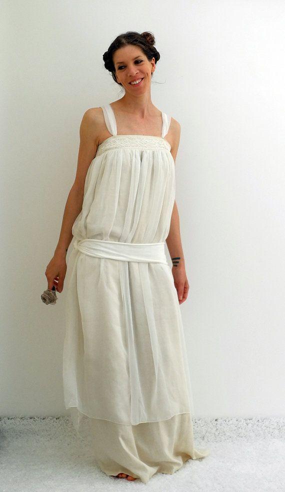 1920 wedding gown boho formal dress vintage inspired dress tunic