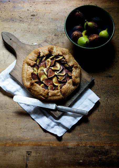 Fig & Ricotta Galette | Elegant living | Pinterest