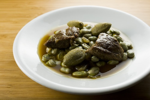 Lamb with Fava Beans and Green Almonds | Dine: Non-Vegetarian | Pinte ...