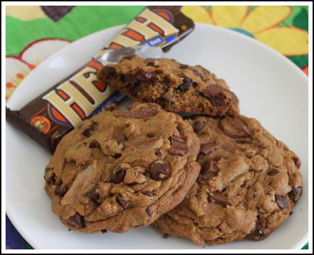Heath Bar Cookies! Much more chunky than the regular Heath cookies ...