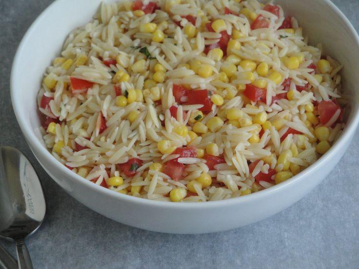 Orzo, Corn & Tomato Pasta Salad | Let's Cook | Pinterest