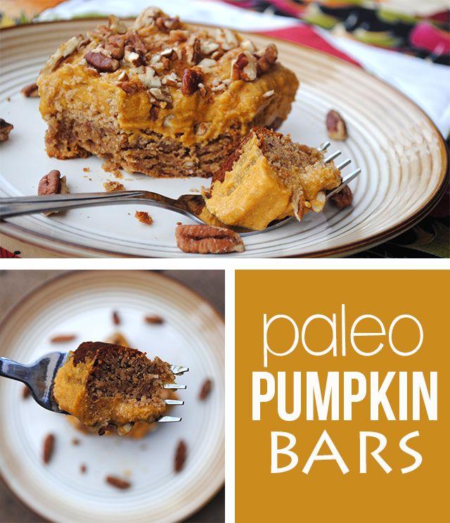Paleo Pumpkin Bars | Recipes to Try: Special Treats | Pinterest