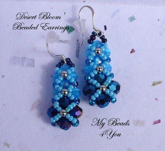 Beaded Earrings Beadwoven Earrings Seed Bead by mybeads4you, I used