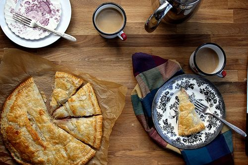 ham and cheese puff pastry pie | mains | Pinterest
