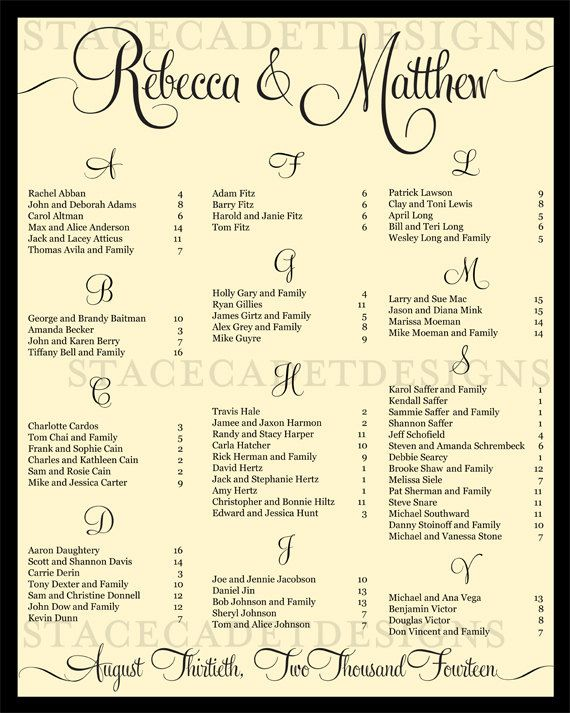 SALE Custom Printable Wedding Reception by StaceCadetDesigns, $36.00