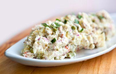 Cash's potato salad-- my absolute FAVORITE. I do peel the potatoes ...