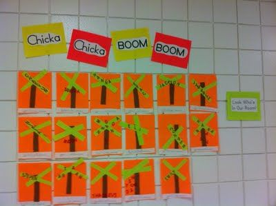 Chicka, chick boom, boom- back to school ideas