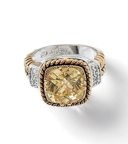 Lia Sophia Lemon Chiffon Ring Size