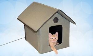 Groupon - Outdoor Heated Cat House. Free Returns. in Online Deal ...