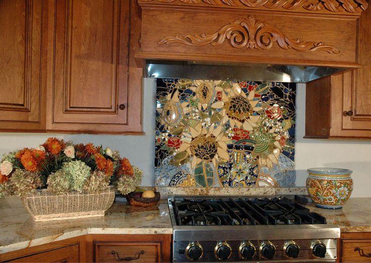kitchen backsplashes w broken china crafts tiling